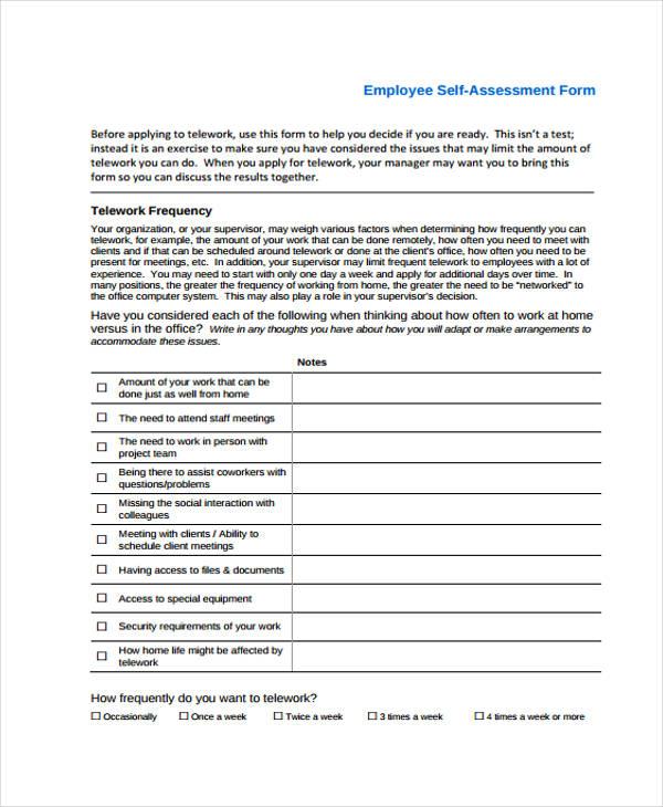 self assessment template datariouruguay - employee self assessments