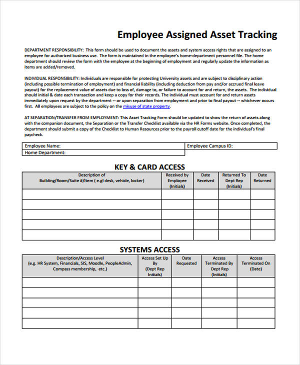 33 Free Tracking Form - employee update form