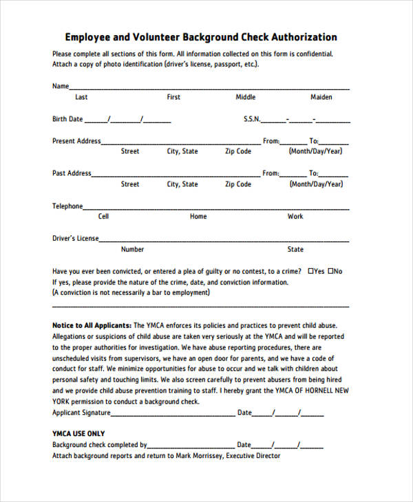 Background Check Authorization Form Simple Background Check - background check release form