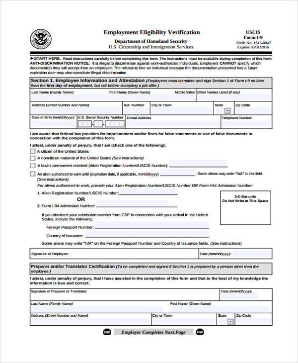 free printable employment verification form - Josemulinohouse - verification of employment form