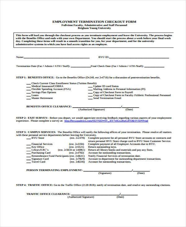 33 Free HR Forms - employee termination form