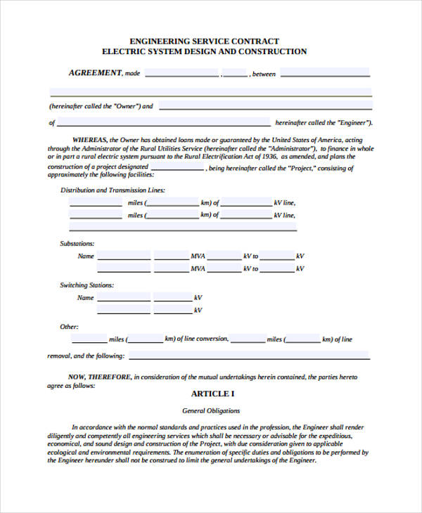 25 Contract Agreement Forms in PDF - service contract form