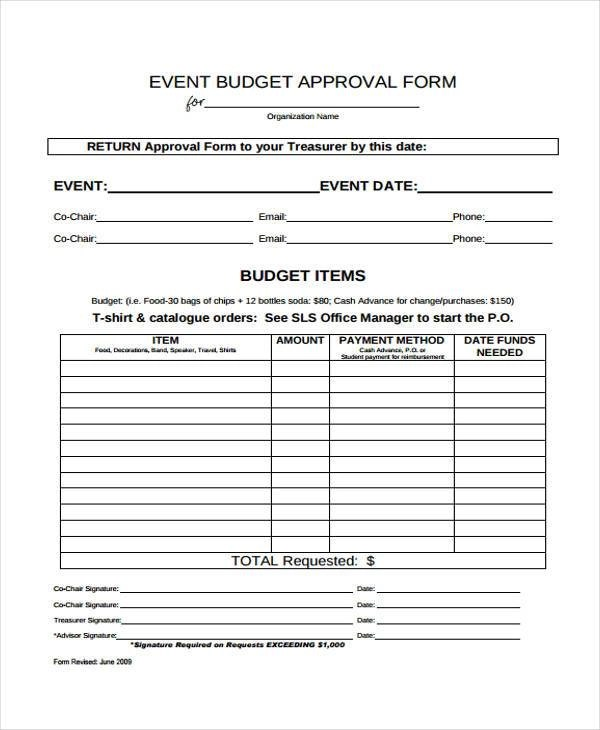 form for budgeting - Francesyotti - form for budgeting