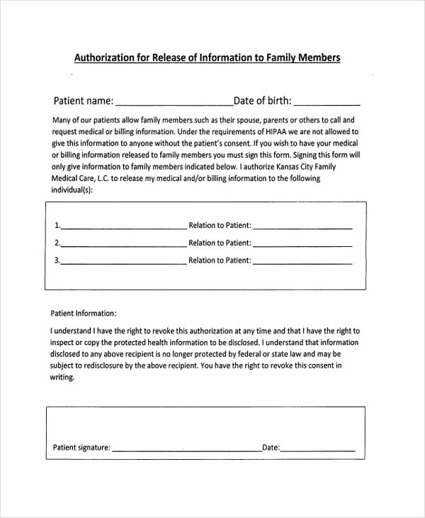 31 Free Medical Release Forms - Medical Information Release Form