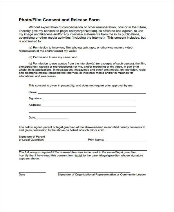 Interview Release Form High Quality Sample Interview Release Form - Release Forms