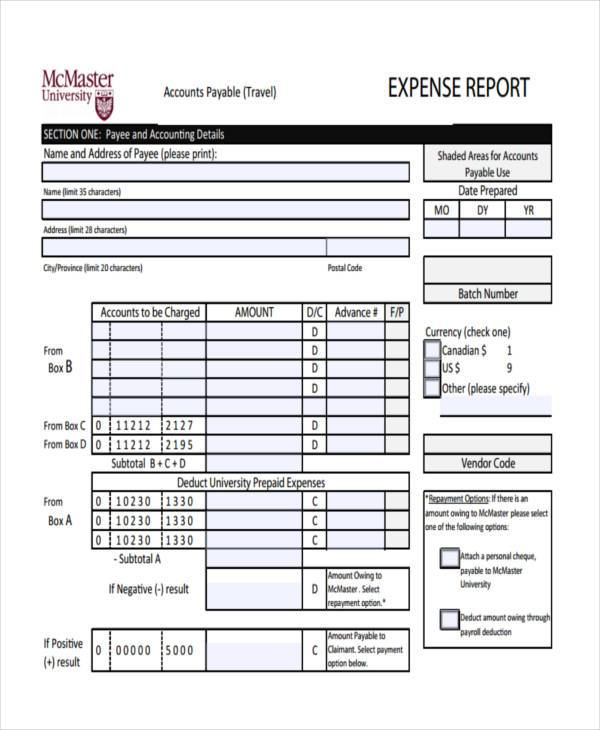 blank expense report - Hillaryrain