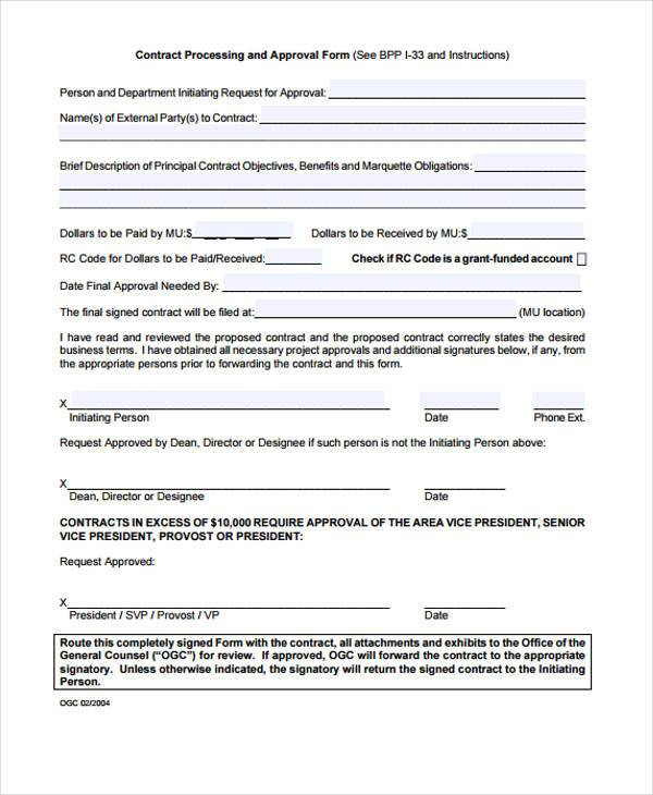 Sample Contract Forms - mortgage contract template