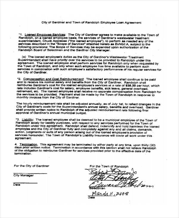 Loan Agreement Form Template - loan agreement sample free