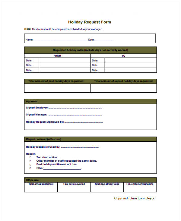 Holiday Application Form Template Images - Template Design Ideas - application form template free