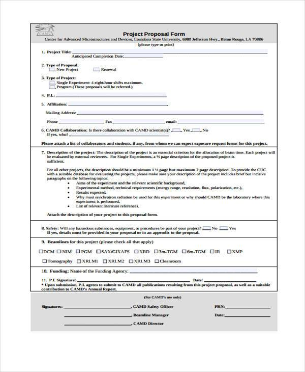 Sample Free Proposal Forms - 36+ Free Documents in Word, PDF - free proposal forms