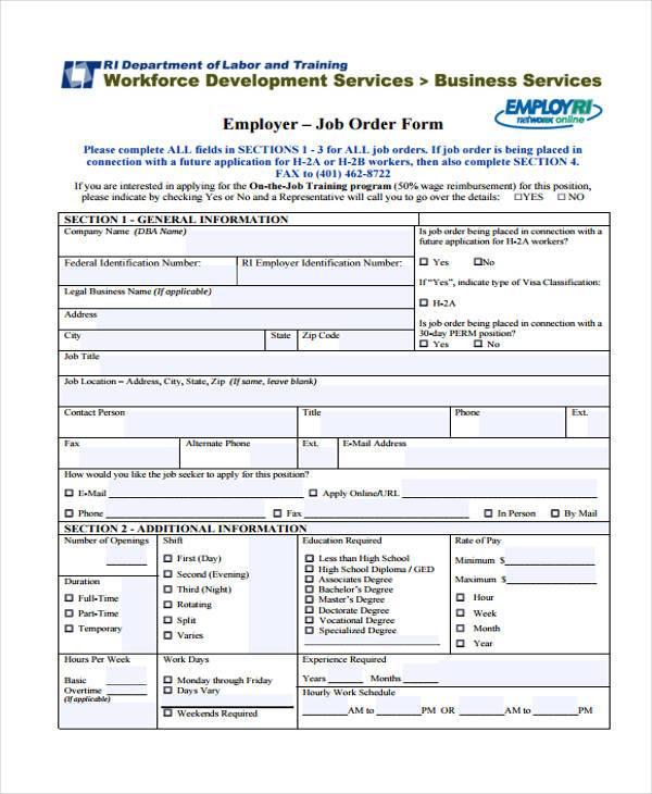 Sample Order Forms - Free Affidavit Forms Online