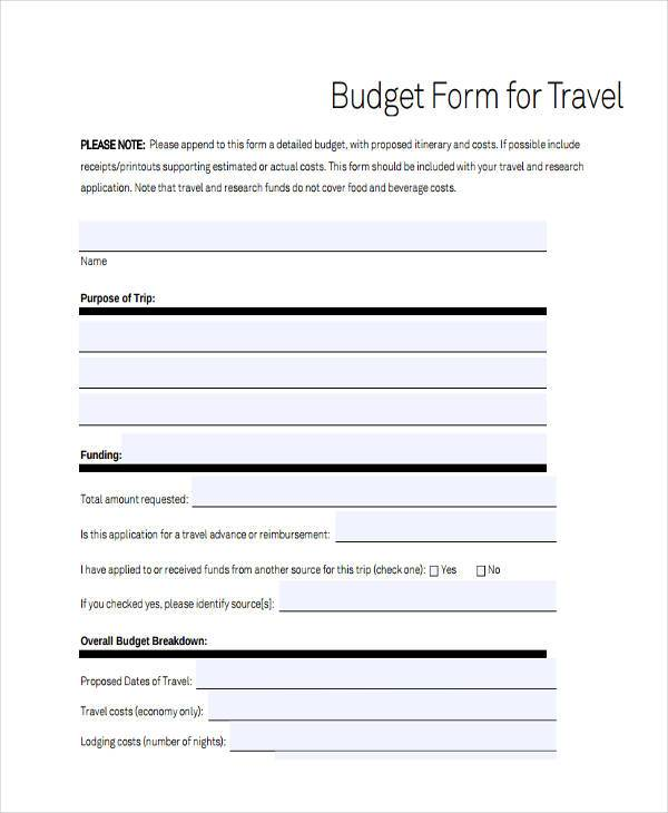mission trip budget template - Josemulinohouse - travel budget template