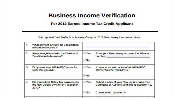 Free Verification Forms