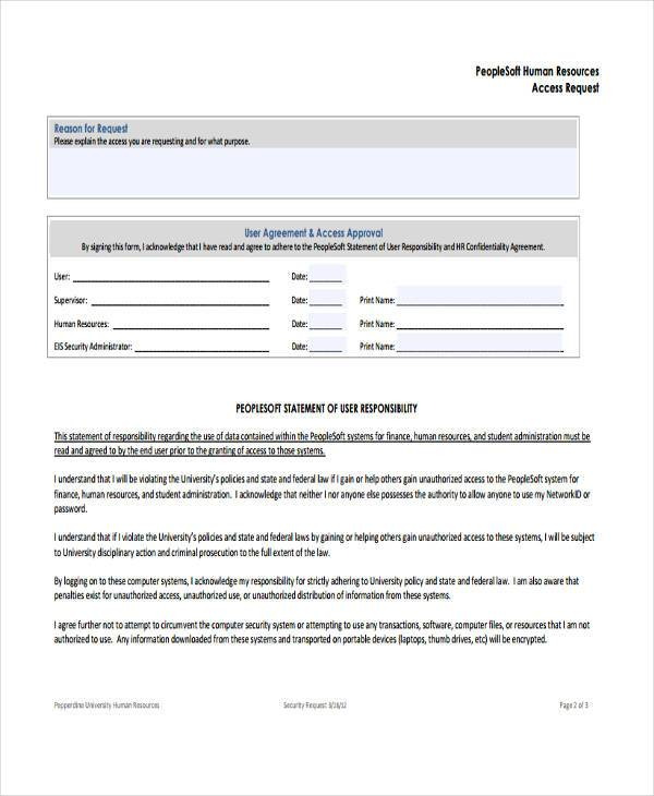8+ HR Registration Form Samples - Free Sample, Example Format Download - access request form