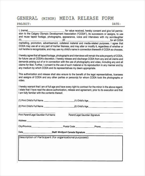 Release Form Templates - beneficiary release form