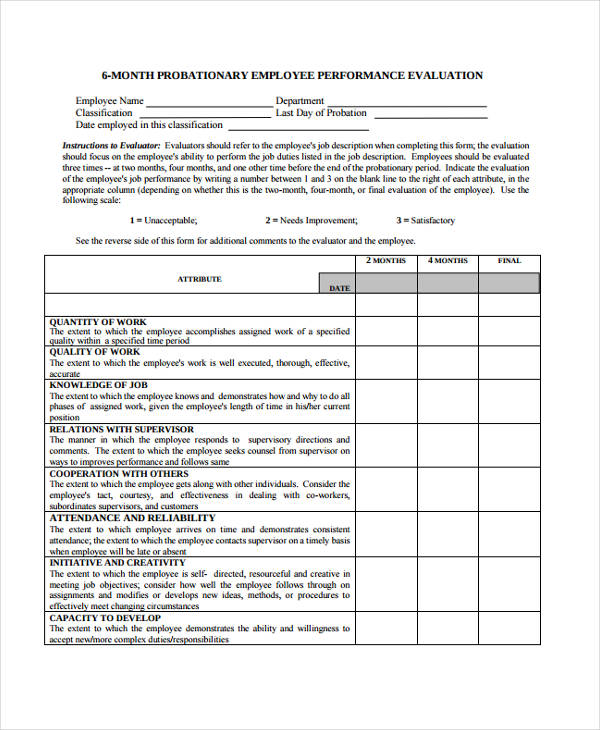 staff evaluation form efficiencyexperts - sample employee evaluation form