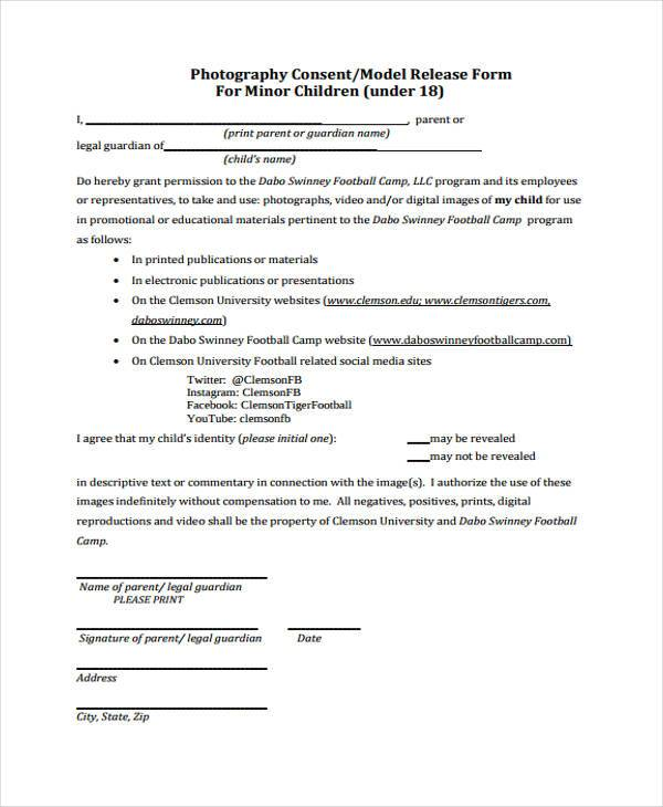 Release Form Templates - general liability release form template