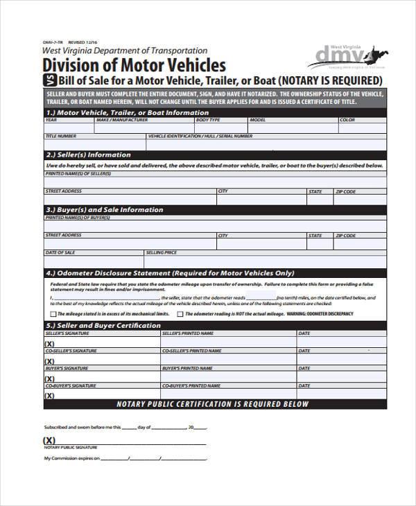 33 Bill of Sale Forms in PDF - generic bill of sale