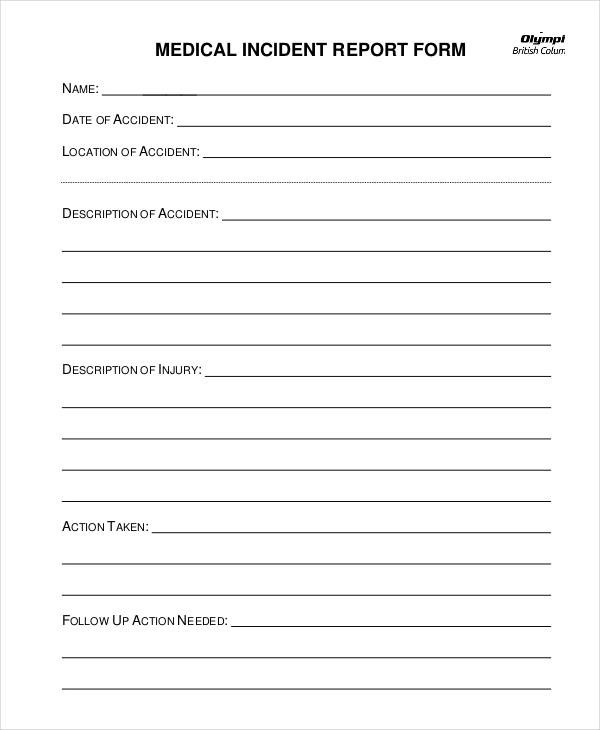 36 Free Incident Report Forms - Incident Reporting Form