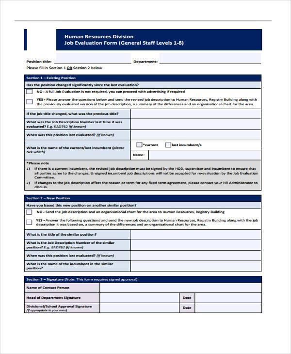 Beautiful Hr Evaluation Form Contemporary - Resume Samples - hr form
