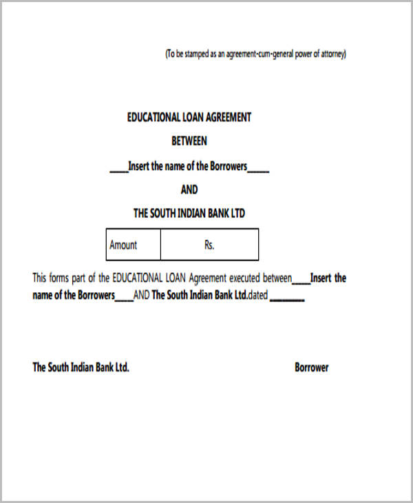 Loan Agreement Form Image collections - Agreement Letter Format