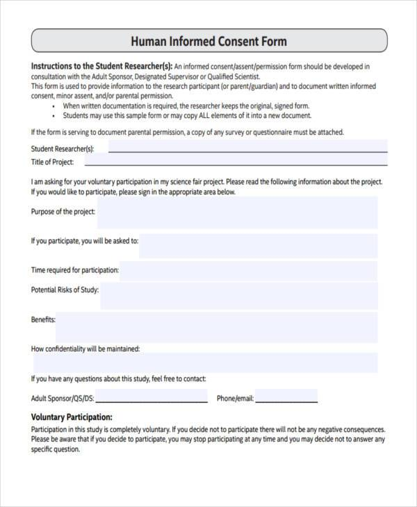 Doc#600730 Research Consent Form Template u2013 Sample Research - research consent form template