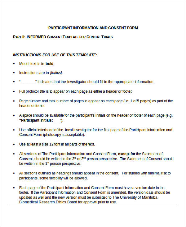 34+ Consent Forms in DOC - research consent form template