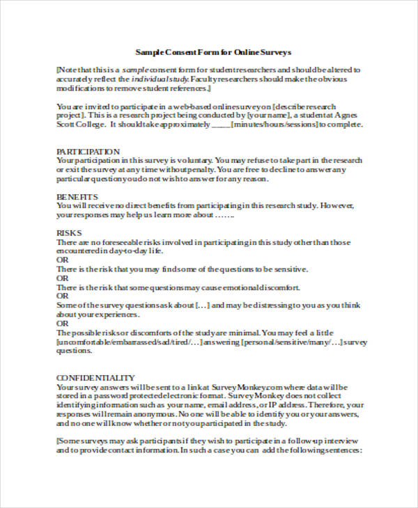 Awesome Survey Consent form Template Rdsap Survey form Seotoolnet