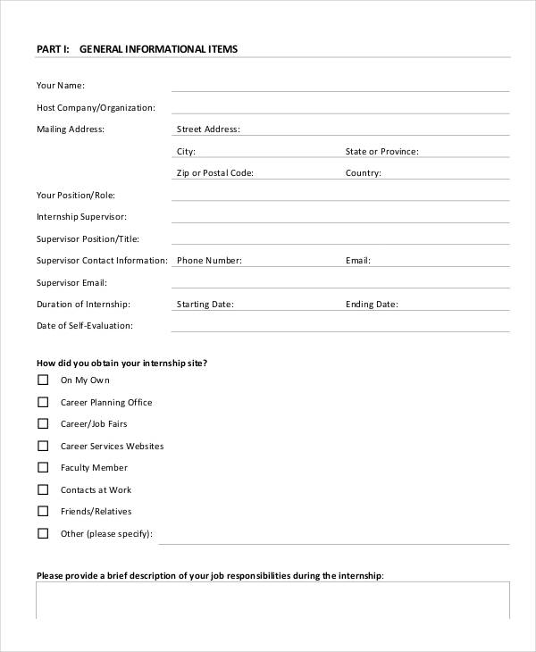 Magnificent Student Self Evaluation Templates Sketch - Resume Ideas