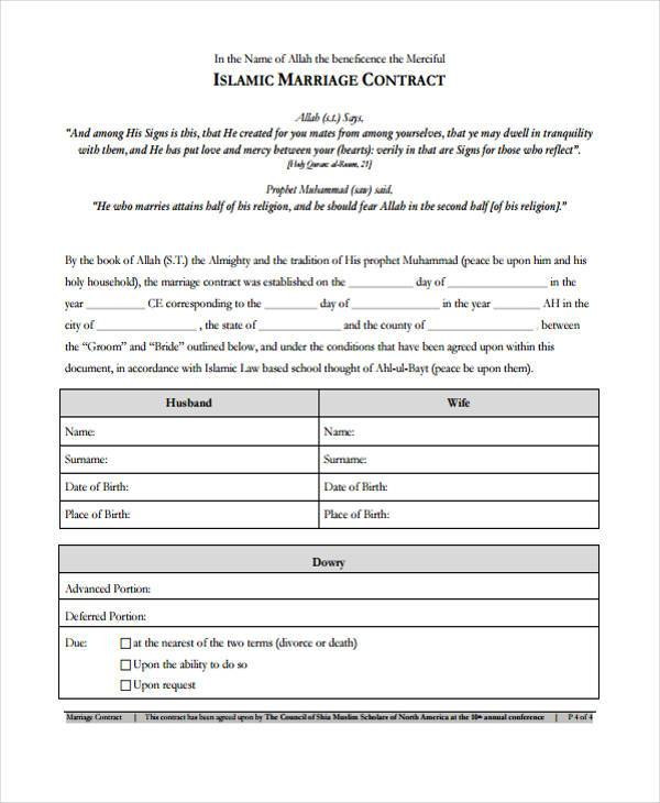 Sample Contract Forms - Yearly Contract Template