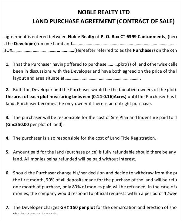 22+ Free Purchase Agreement FormLand Contract Templates - commercial purchase agreements
