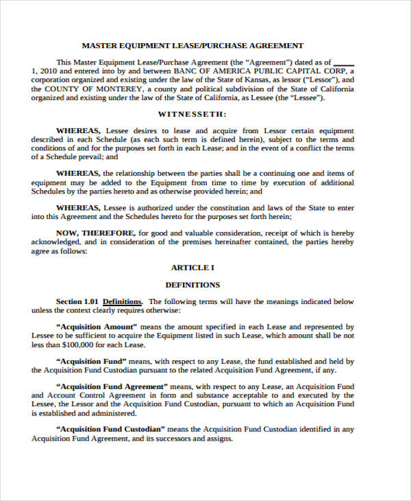 Sample Purchase Agreements 7+ land purchase agreement form - sample purchase and sale agreement template