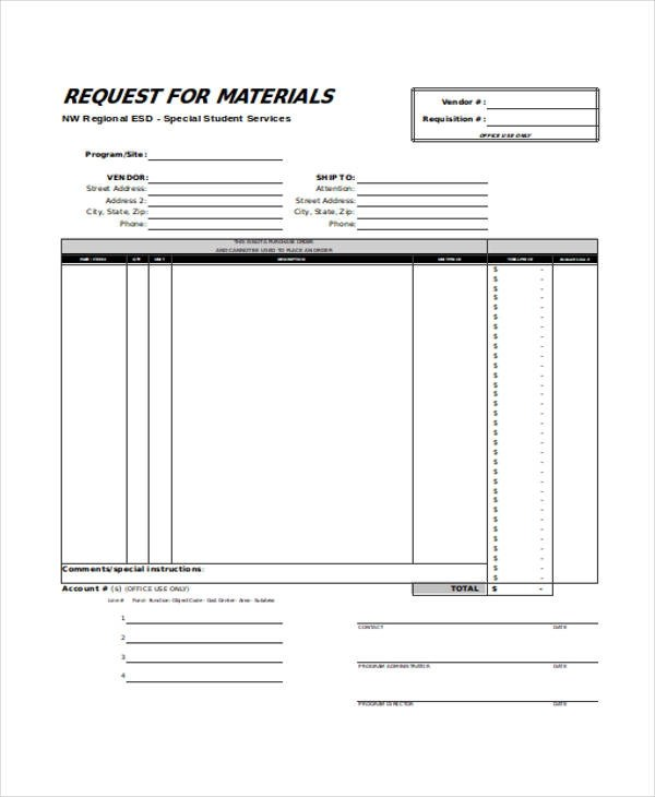 material request form | efficiencyexperts.us