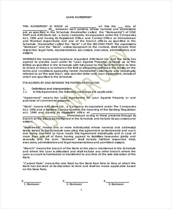 Loan Repayment Form Template – Loan Repayment Form Template