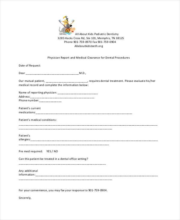 Medical Report Forms - medical form in pdf