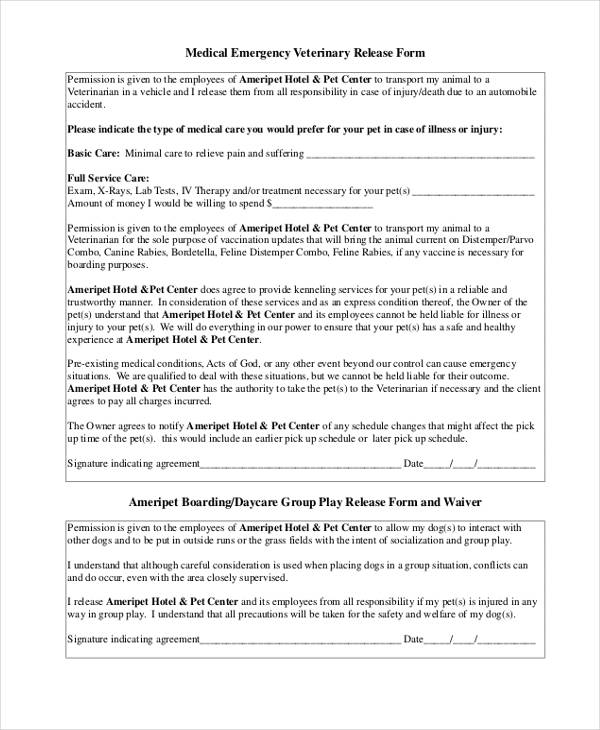 Veterinary Release Form Template 17 Best Images About Pet Sitting On
