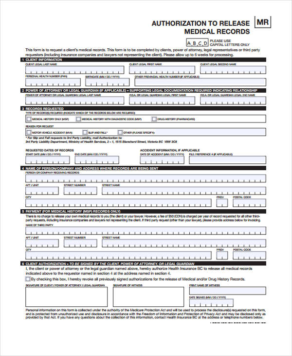 authorization for release of medical records template - Amitdhull - medical records release forms