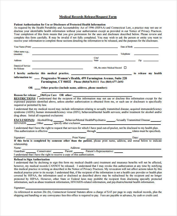 patient record release form - Solidgraphikworks - medical records release form