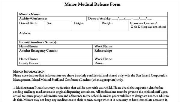 33 Medical Release Forms in PDF