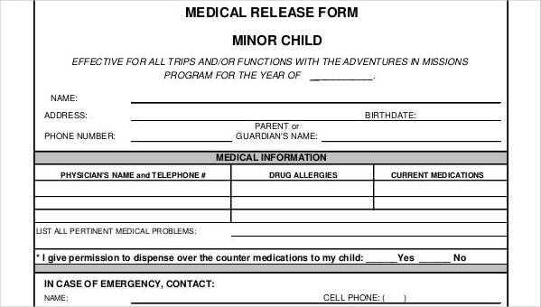 25+ Medical Release Forms