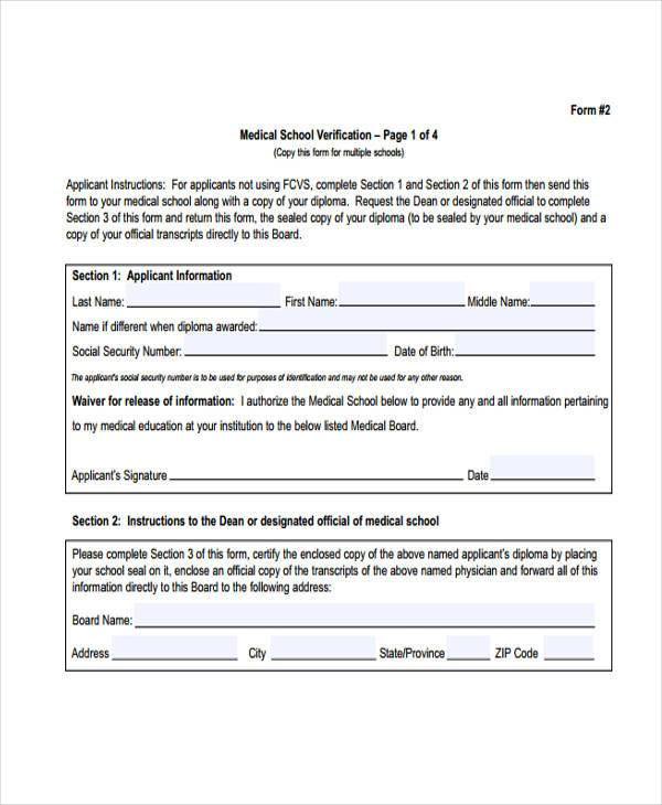 Printable Medical Forms - medical clearance forms
