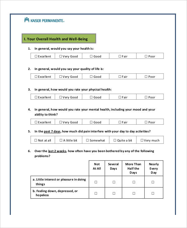 Superior ... General Evaluation Template Employee Evaluation Form   41+   Health  Assessment Template ...