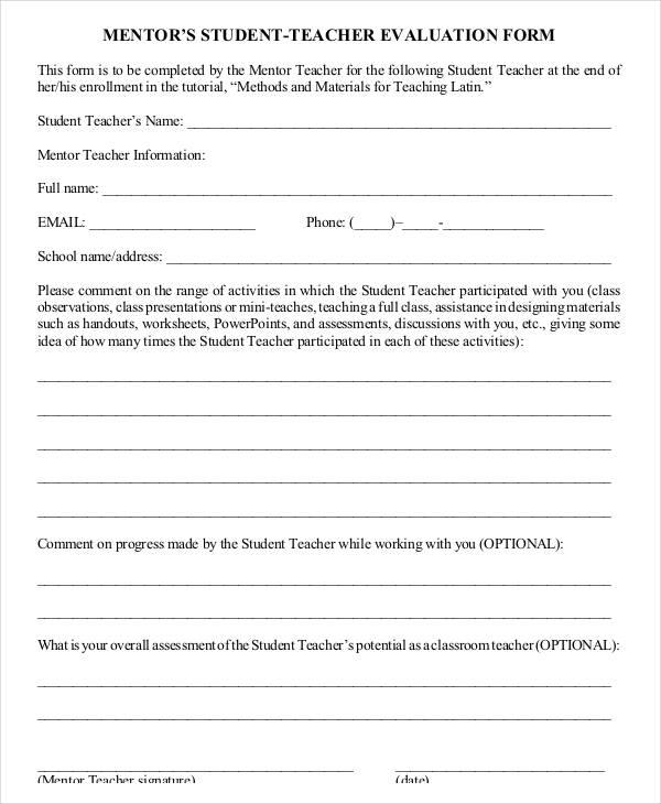 Teaching Evaluation Form Oral Presentation Evaluation Form Best - class evaluation template