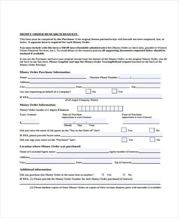 Sample Order Forms efficiencyexperts - money order form