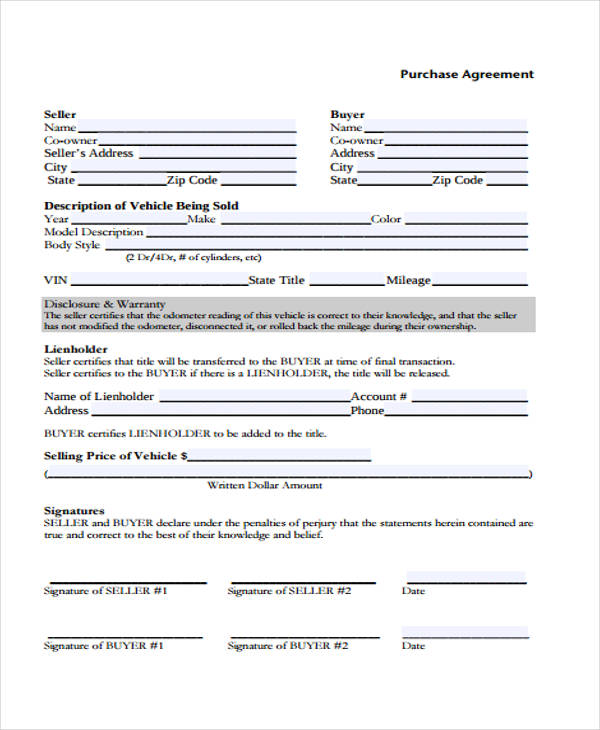 auto purchase agreement template node2001-cvresumepaasprovider - sample vehicle purchase agreement