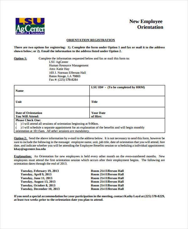 employment registration form format - Canasbergdorfbib