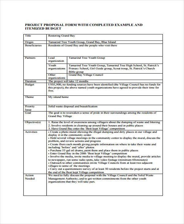 9+ Project Proposal Form Samples - Free Sample, Example Format Download