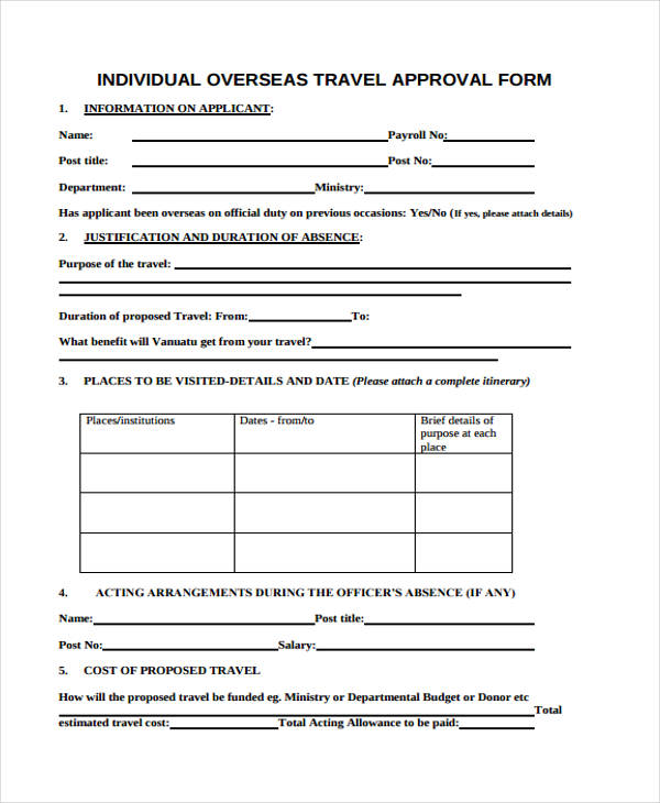 Travel Authorization Form Example sample medical consent form - travel consent form sample