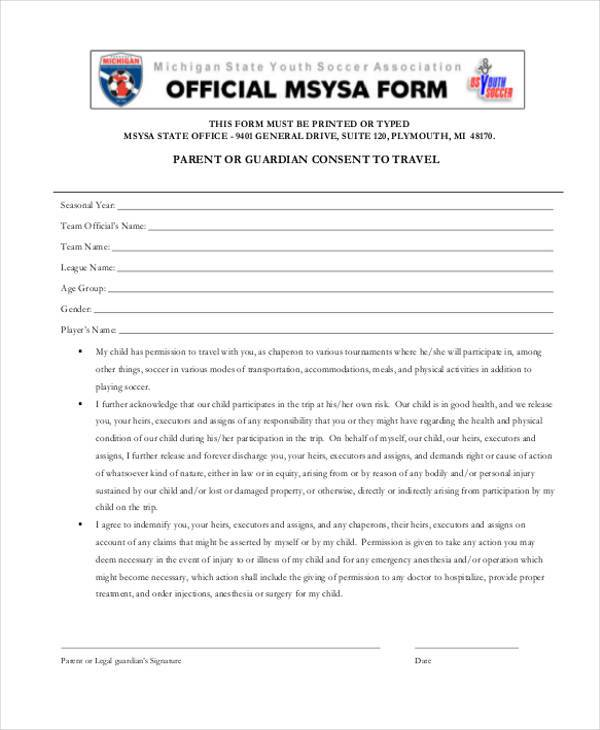 travel consent form sample pro-thai - parental consent to travel form