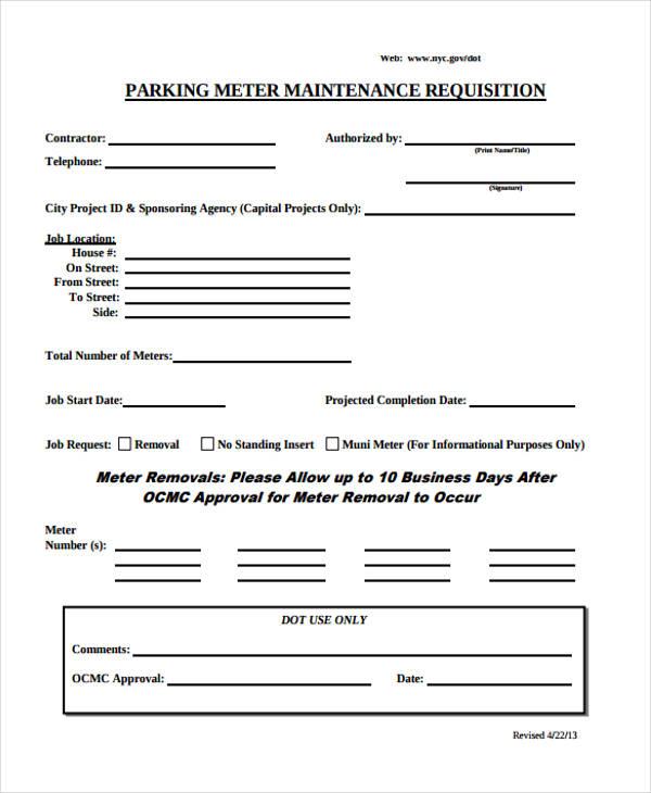 Sample Requisition Form parts requisition form - 2 part - sample requisition form